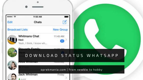 cara mudah download status whatsapp